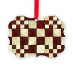 Cracked Tiles - Red Picture Ornament