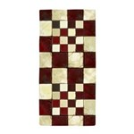 Cracked Tiles - Red Beach Towel