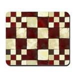 Cracked Tiles - Red Mousepad