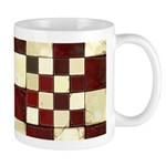 Cracked Tiles - Red Mug