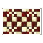 Cracked Tiles - Red Banner