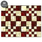 Cracked Tiles - Red Puzzle