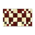 Cracked Tiles - Red Car Magnet 20 x 12