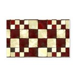 Cracked Tiles - Red Rectangle Car Magnet