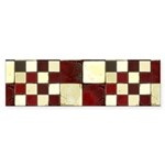 Cracked Tiles - Red Sticker (Bumper 10 pk)