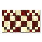 Cracked Tiles - Red Sticker (Rectangle 10 pk)