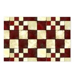 Cracked Tiles - Red Postcards (Package of 8)