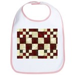 Cracked Tiles - Red Bib