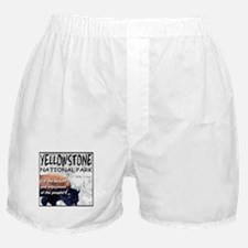 YNP Bison and Map Boxer Shorts