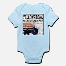 YNP Bison and Map Infant Bodysuit