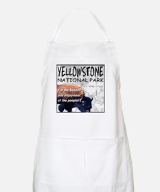 YNP Bison and Map Apron
