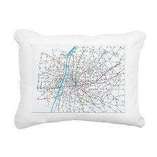 Subway network Rectangular Canvas Pillow