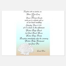 Beach with Shell Wedding Invitation Invitations