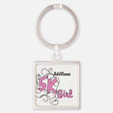 5k Optional Text Square Keychain