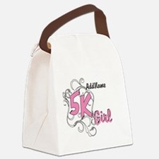5k Optional Text Canvas Lunch Bag