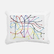 Imaginary Subway network Rectangular Canvas Pillow