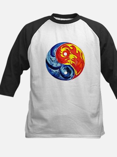 Yin-Yang Fire and Ice Baseball Jersey
