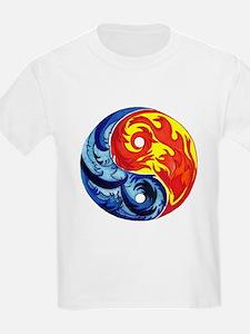 Yin-Yang Fire and Ice T-Shirt