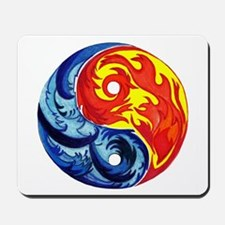 Yin-Yang Fire and Ice Mousepad