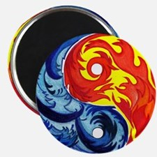 Yin-Yang Fire and Ice Magnets