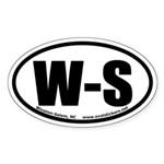 Winston-Salem, North Carolina Oval Sticker