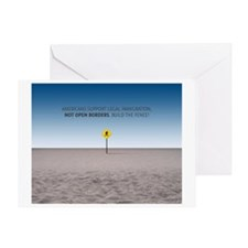 No Open Borders Greeting Cards