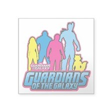 "Guardians of the Galaxy 80s Square Sticker 3"" x 3"""