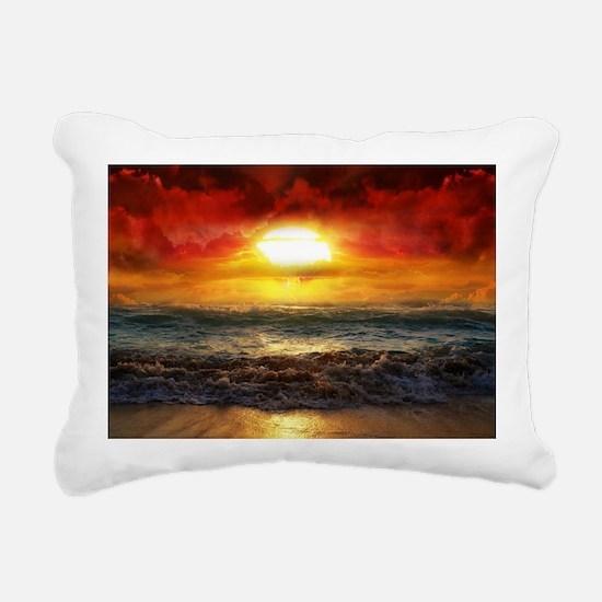 sun down Rectangular Canvas Pillow
