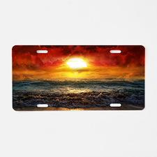 sun down Aluminum License Plate