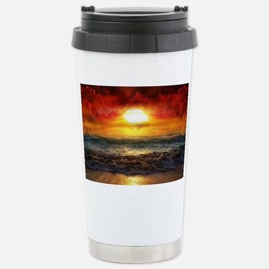 sun down Stainless Steel Travel Mug