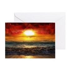 sun down Greeting Card