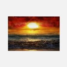 sun down Rectangle Magnet