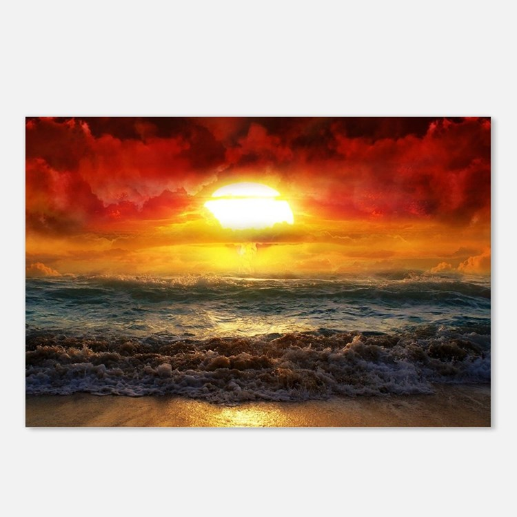 sun down Postcards (Package of 8)