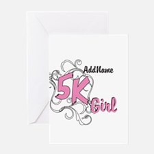 Customize 5k Girl Greeting Cards