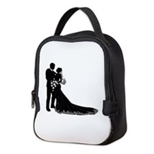 Wedding Bride Groom Silhouette Neoprene Lunch Bag