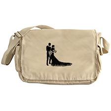 Wedding Bride Groom Silhouette Messenger Bag