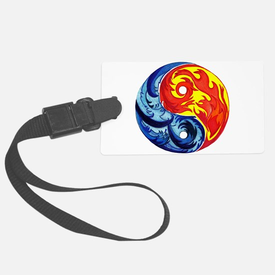 Yin-Yang Fire and Ice Luggage Tag