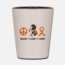 Ladybug Peace Love Hope Shot Glass