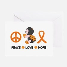 Ladybug Peace Love Hope Greeting Card