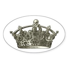 antique typographic vintage crown Decal