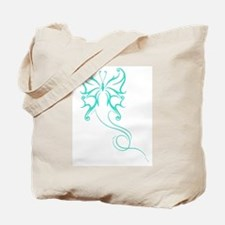 Teal butterfly Tote Bag