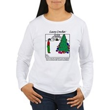 Lacey with xmas snowflakes Long Sleeve T-Shirt