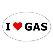 I love (heart) Gas! Decal