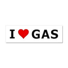 I love (heart) Gas! Car Magnet 10 x 3