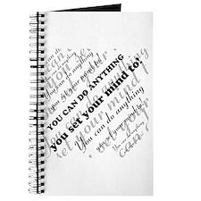 CAN DO Inspirational Text Journal