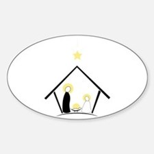 Baby In Manger Decal