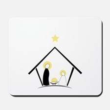 Baby In Manger Mousepad