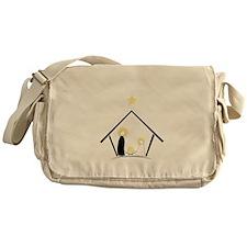 Baby In Manger Messenger Bag