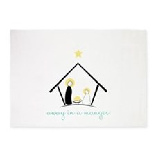 Away In A Manger 5'x7'Area Rug