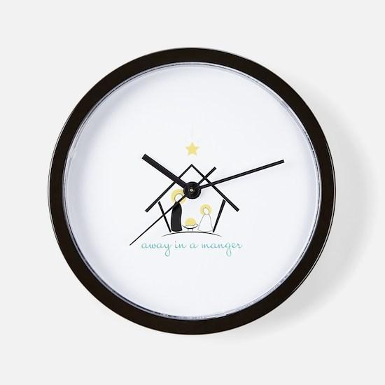 Away In A Manger Wall Clock